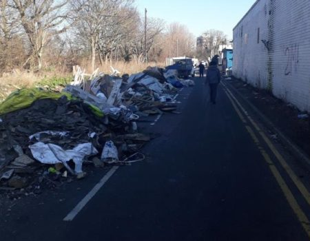 Fresh fly-tip appears at notorious hot spot